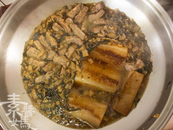素食年菜料理-梅干(福菜)扣肉-12