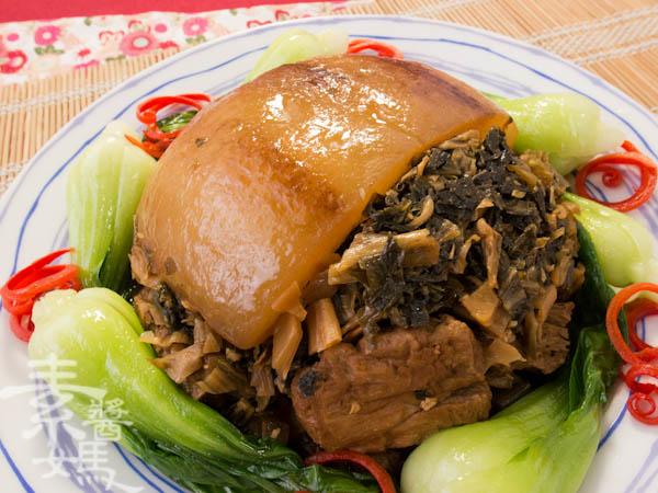 素食年菜料理-梅干(福菜)扣肉-17