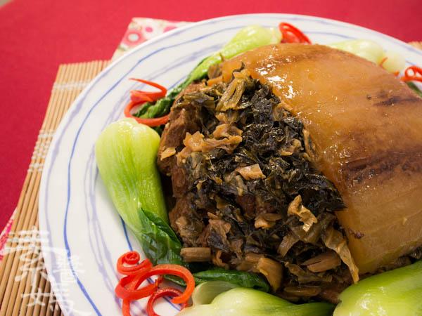 素食年菜料理-梅干(福菜)扣肉-24