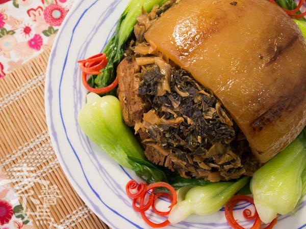 素食年菜料理-梅干(福菜)扣肉-22