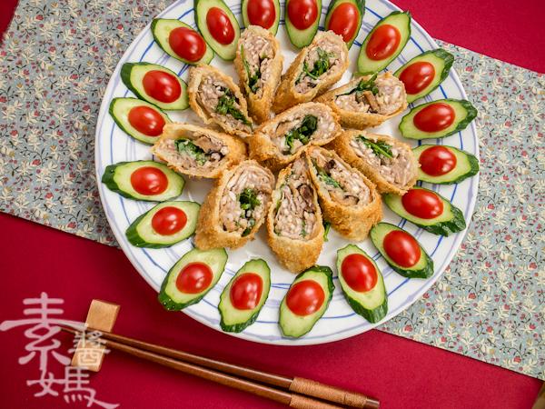 素食年菜料理-香酥芋頭捲-13