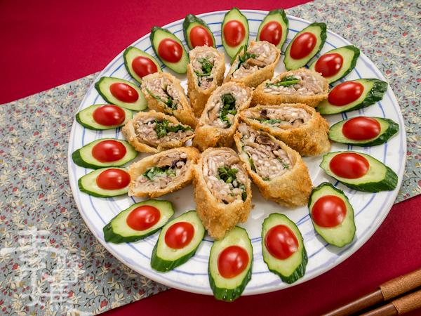 素食年菜料理-香酥芋頭捲-15