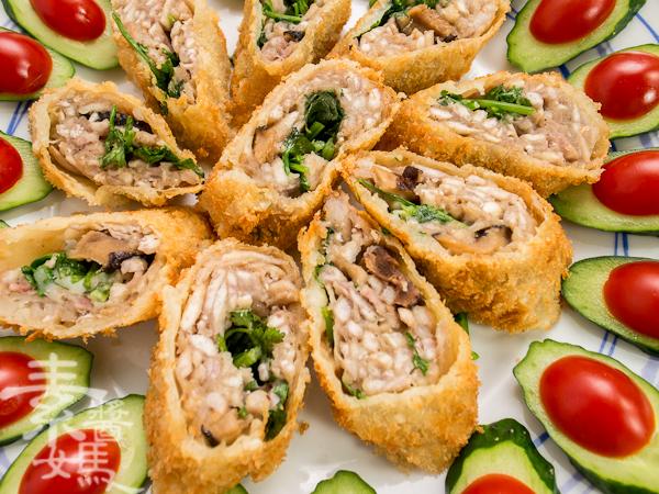素食年菜料理-香酥芋頭捲-16