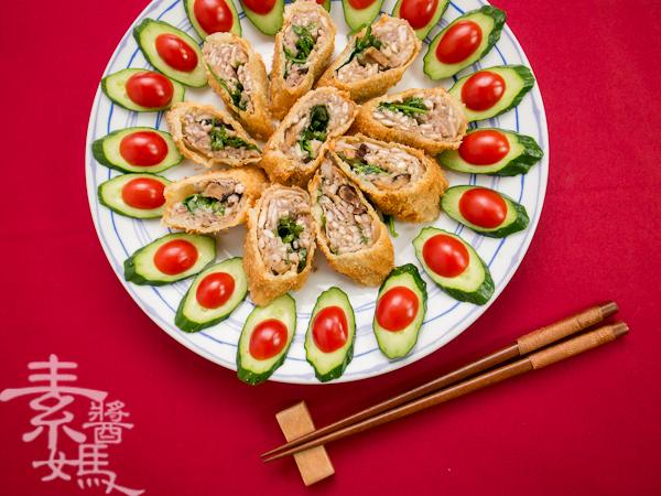 素食年菜料理-香酥芋頭捲-17