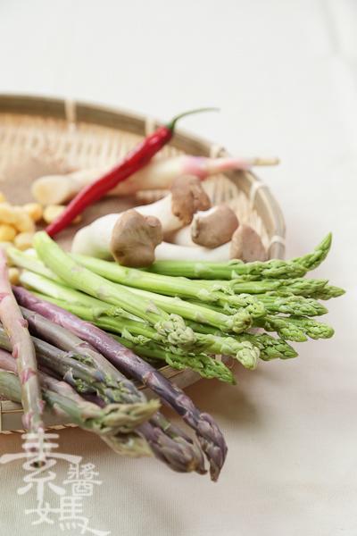 家常宴客菜-素干貝炒蘆筍-1