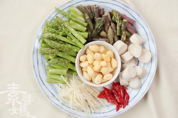 家常宴客菜-素干貝炒蘆筍-5