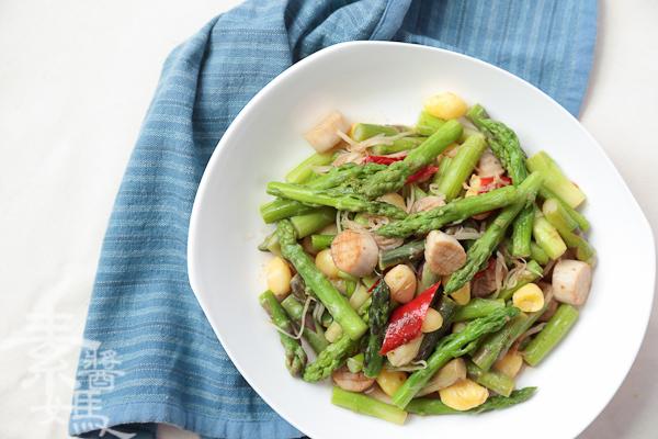 家常宴客菜-素干貝炒蘆筍-26