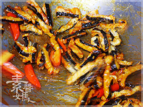 素食小菜 - 糖醋素小魚乾15.JPG