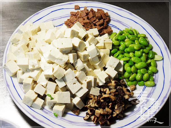 麻 婆 豆腐 素