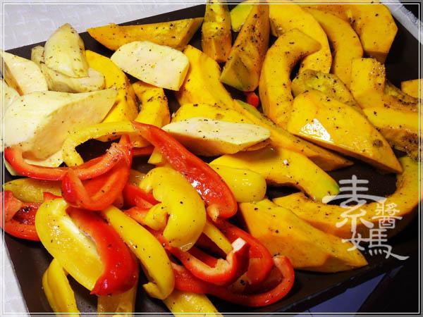 簡單料理 - 烤蔬菜06.JPG
