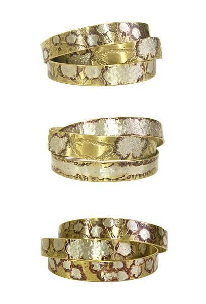 黃銅窄版手環搭配