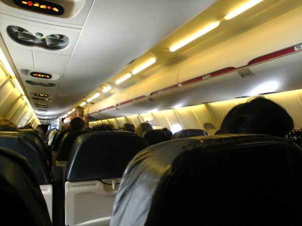 從LA轉機超小飛機