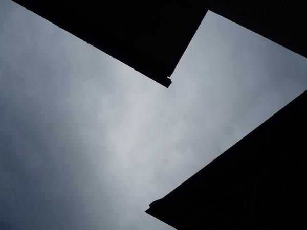 露天溫泉的天空
