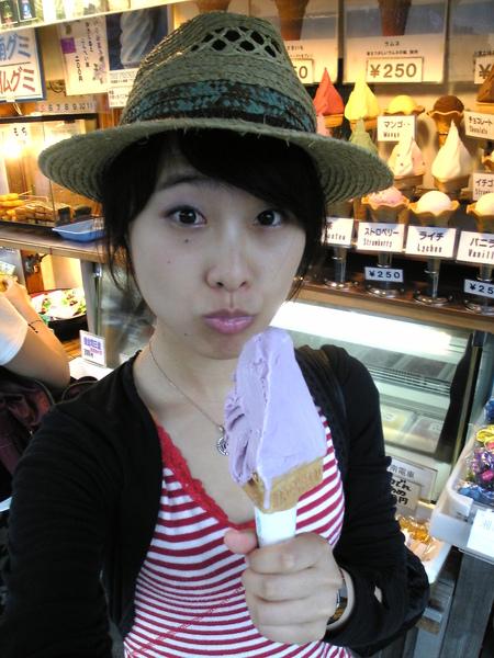 一定要吃的紫芋冰