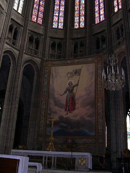 039_奧爾良聖十字大教堂-聖女貞德畫像