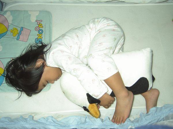 20070621-2抱著新的哞睡著了