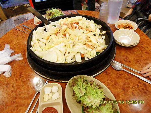 中餐-大鋼盤醃雞炒烤+金玉炒飯