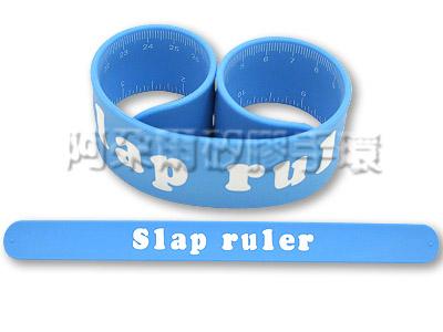阿朵爾 客製化 矽膠拍拍尺 矽膠手環 訂製 製作 (藍)