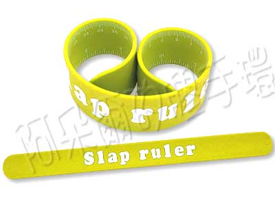 阿朵爾 客製化 矽膠拍拍尺 矽膠手環 訂製 製作 (黃)