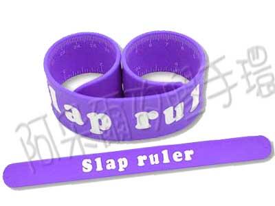 阿朵爾 客製化 矽膠拍拍尺 矽膠手環 訂製 製作 (紫)