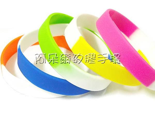 阿朵爾矽膠手環 素面段色 運動 矽膠手環 共10色