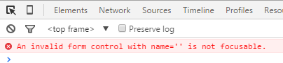 HTML5 驗證搭配Javascript 在Chrome 上可能遇到的錯誤(An invalid form ...