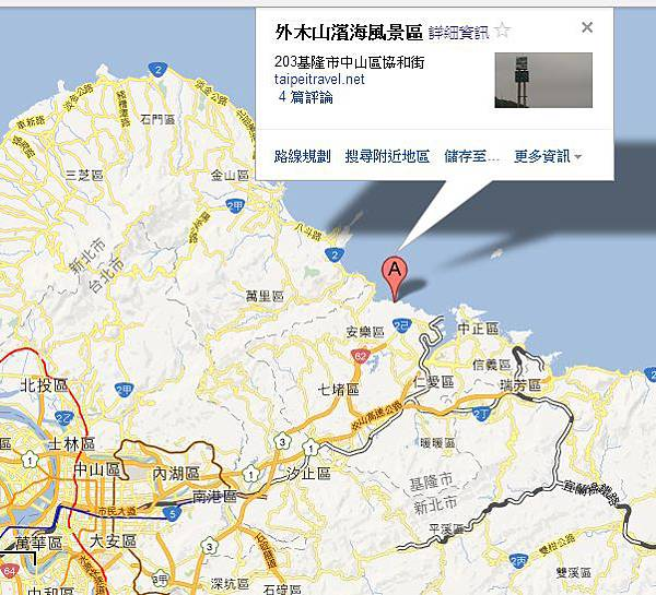 外木山風景區Map