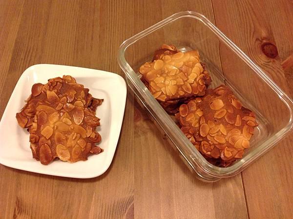 杏仁瓦片餅乾