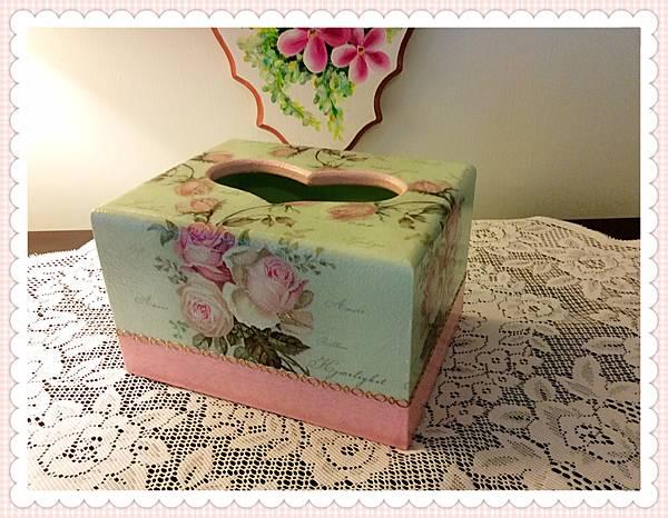 玫瑰面紙盒
