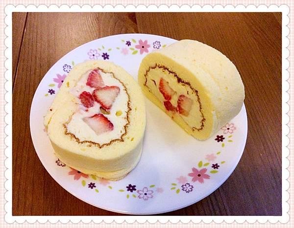 卡士達草莓檸檬蛋糕卷