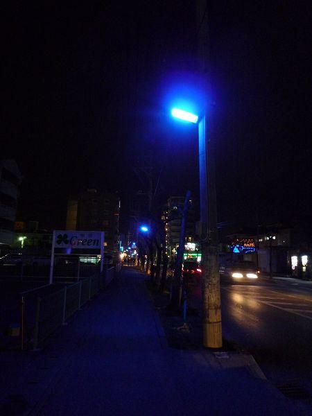 藍色的路燈...