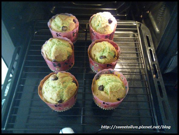 green tea flavor cup cake -11