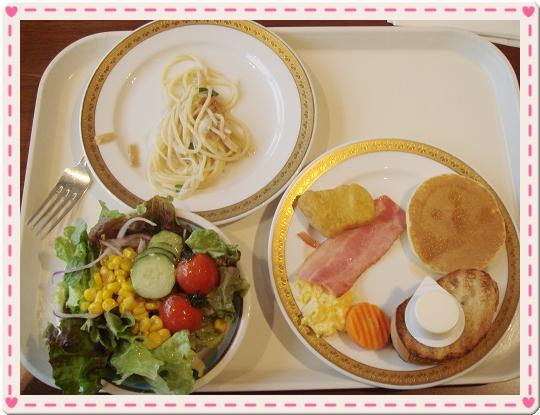 我一樣吃西式的早餐