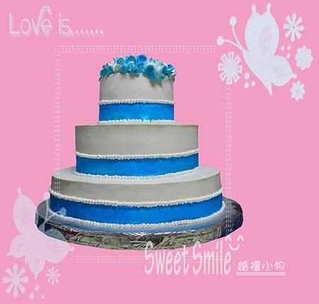 藍色之戀(婚禮蛋糕)-1
