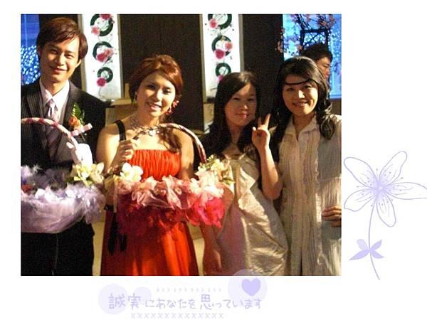 Ivy婚宴上3個女生合影