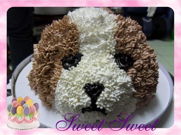 造型蛋糕《聖伯納》