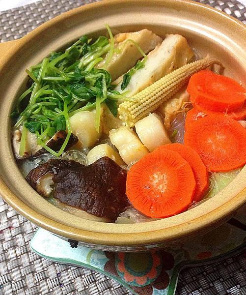 絲瓜干貝蔬菜粉絲煲