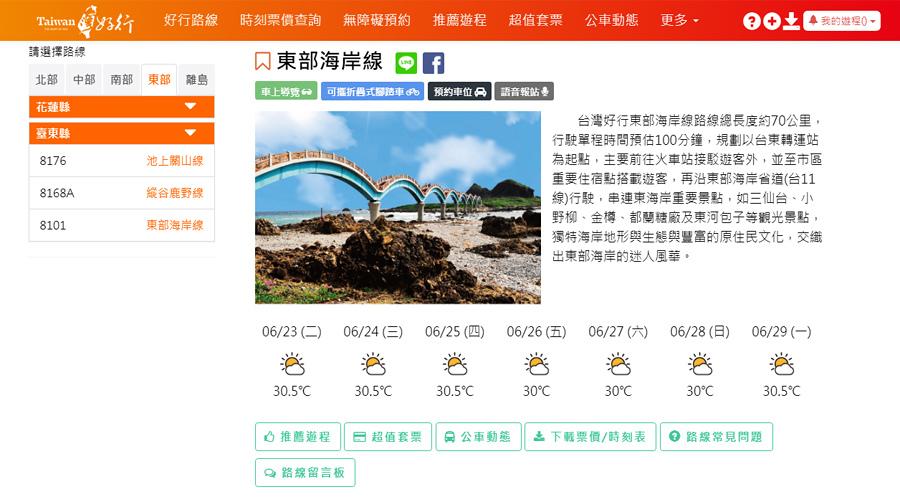 台灣好行東部海岸線