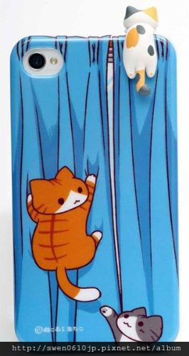 手機殼(藍)+耳機塞(三毛)