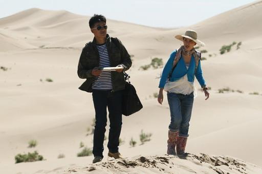 圖01-旅行趣事一籮筐《追愛》沙漠開機遇罕見暴雨