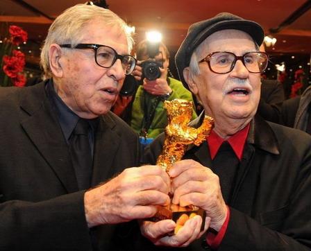 勇奪今年柏林影展金熊獎的電影《凱撒必須死》(Caesar Must Die),日前榮獲「義大利奧斯卡」-「大衛獎」八項大獎提名 圖為該片導演塔維安尼兄弟(Vittorio &Paolo Taviani)