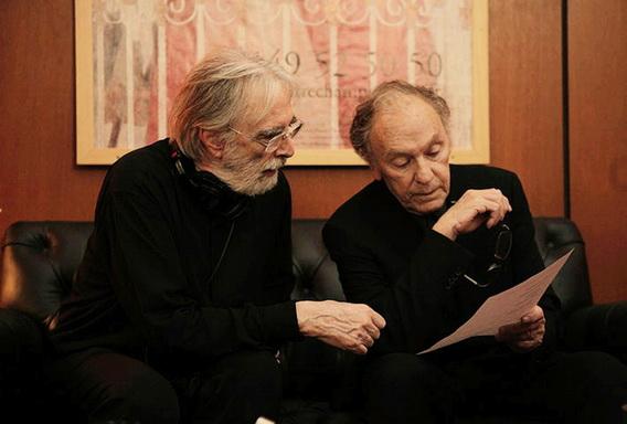 法國「盧米埃電影獎」以表彰優秀法語電影為主,在最佳導演提名名單上,「老外」漢內克赫然在列. 右為男主角尚路易坦帝尼昂(Jean-Louis Trintignant)