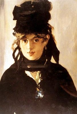 莫莉索(Berthe Morisot)走出馬內(Edouard Manet)的畫後,成了法國印象派第一位女性畫家