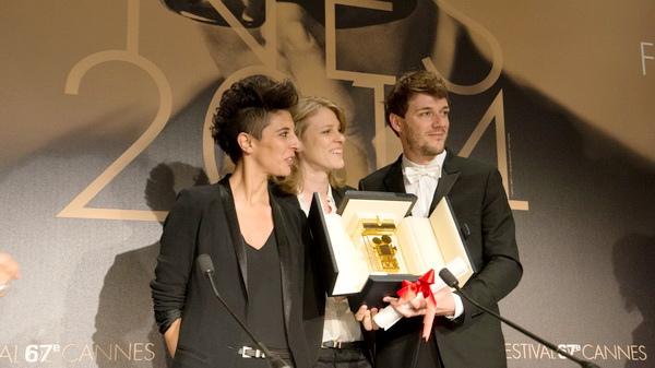 三位導演Samuel Theis、Claire Burger、Marie Amachoukeli-Barsacq(由右至左)