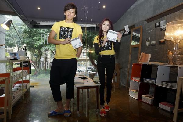王大陸、陳語安宣傳《相愛的七種設計》當一日店長 大推兩人簽名戒