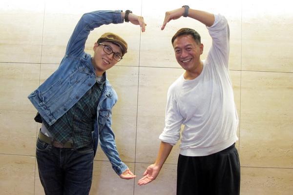 《愛情算不算》演員張翰與導演林君陽, 示範「大愛心」手勢, 被開玩笑適合代言酷兒影展