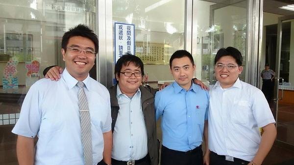 曾威凱、劉繼蔚、李宣毅、邱顯智(由左至右)