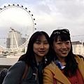 我與Agnes在倫敦眼前面