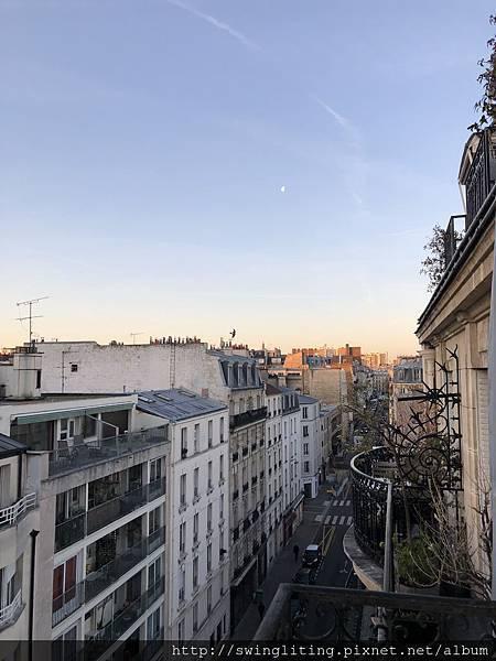 巴黎旅館望出去的景色