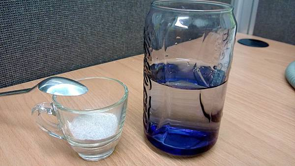 藍苺粉跟水